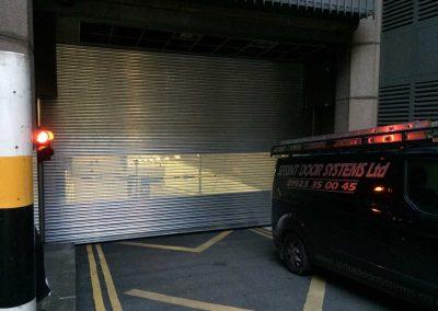 Car Park Roller Shutter - Perforated Roller Shutters Sprint Door Systems