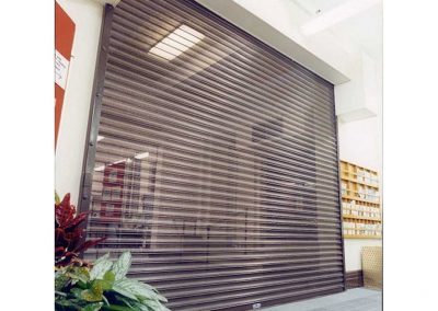 PERFORATED SINGLE SKINNED - Perforated Roller Shutters Sprint Door Systems