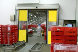 Doble pass novosprint hygienic horizontal speed doors