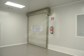Hermetic roll vertical high speed doors
