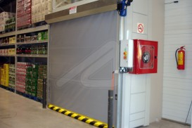 Instant roll basic vertical high speed doors